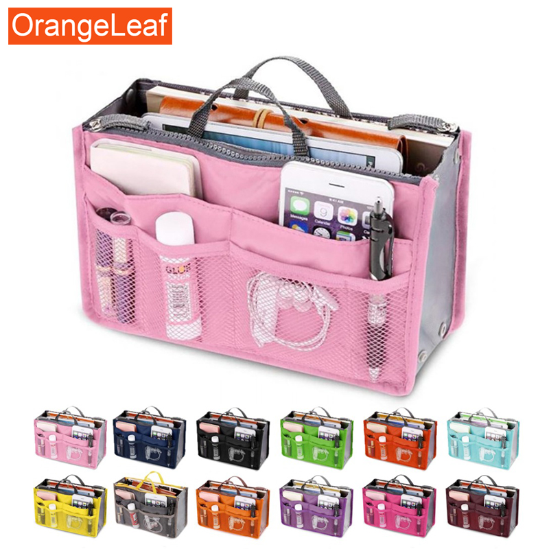 Travel Portable  Cosmetic Bag Double Zipper Makeup Bag Multi-function Toiletries Finishing Package Sorting Receive Bag