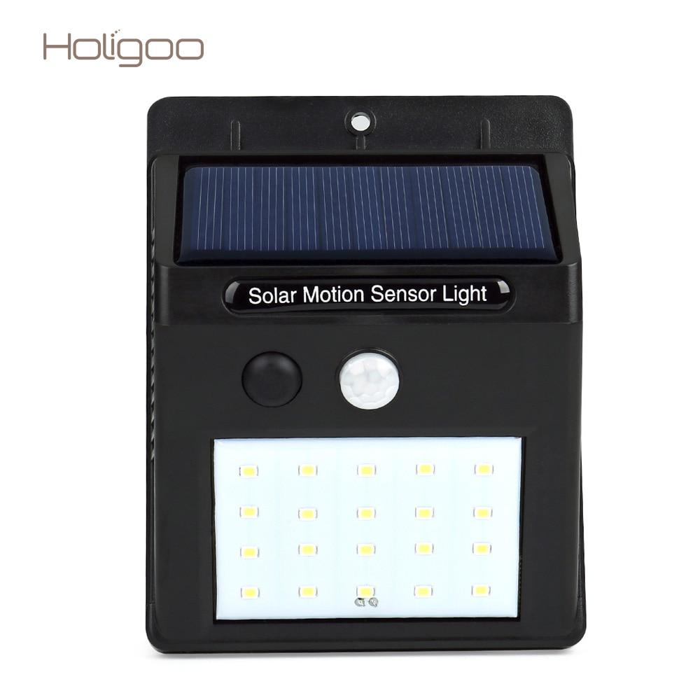 holigoo outdoor led solar lamp 20 led solar light security. Black Bedroom Furniture Sets. Home Design Ideas