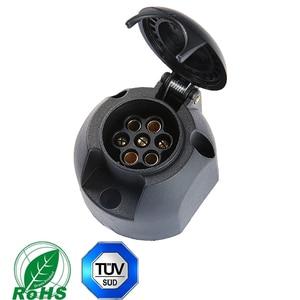 Image 4 - Caravane pièces de rechange 1 pc 7Pin remorque fiches et RV prises 1 pc 7 Pin plastique remorque connecteurs prise pour remorque camion