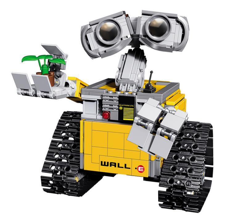 Film Robot mur E 3D modèle blocs de construction chiffres jouets pour enfants Compatible avec briques cadeau