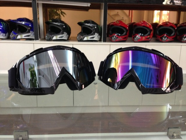 free shipping motocross goggles Eyewear Snow Snowboarding glasses snow/UV- Protection Multi-Color anti-fog lens Skiing Goggles