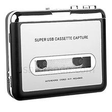 Cassette Player Portable Tape to PC Converter USB Cassette Recorder Tape-to-MP3 Music Player Convert Tape Cassette to MP3 Format