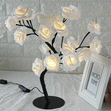Настольная лампа в форме розы, декоративный светильник для гостиной, спальни, SKD88