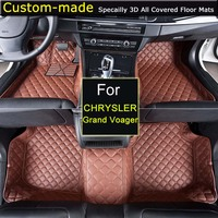 Car Floor Mats for Chrysler Grand Voyager Car Styling Customized Foot Rugs Custom Carpets Grand Voager Black Brown Beige