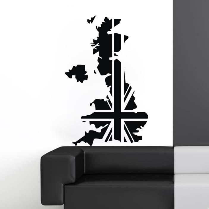 dctal uk map poster decal posters art vinyl wall decals pegatina