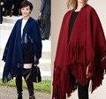 2016 mulheres de luxo da marca cashmere borla poncho loos mais quente grande cachecol pashmina macio
