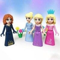 Fairy Tale Princess Girl Friends Anna Elsa Mermaid, Snow White Model Building Bricks Blocks Doll Compatible Legoings Toy