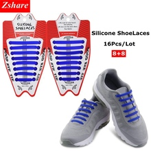 16Pc/Set Silicone Shoe laces Elastic No Tie Shoelaces Rubber Laces lazy ShoeLaces for All Sneakers,Boots,Casual Shoes 13 Colors new 1 set 12 pcs shoelaces unisex elastic silicone laces mens womens all sneakers fit belts sports canvas pu shoes accessories