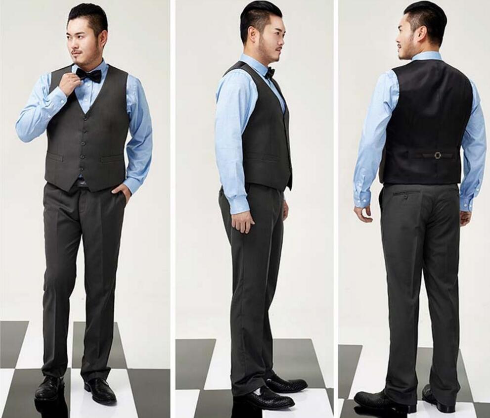 Amato Mens Suit Vest Abbigliamento Business Casual Da Sposa Gilet Da  FD49