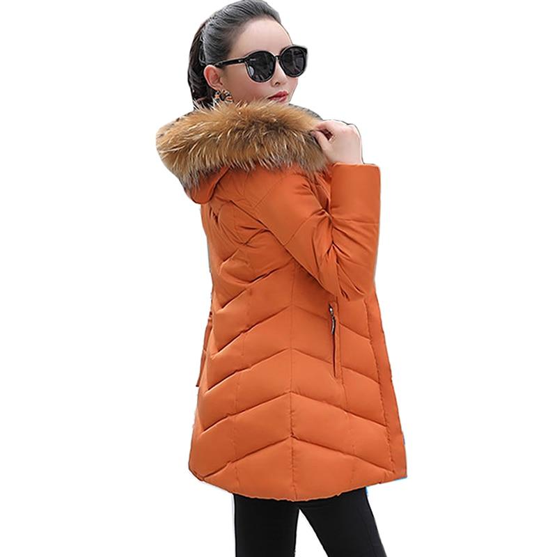 Winter Slim Female Long Jacket 2018 Winter Coat Women Fur Collar Warm Woman   Parka   Outerwear Down Jacket Winter Jacket Women Coat