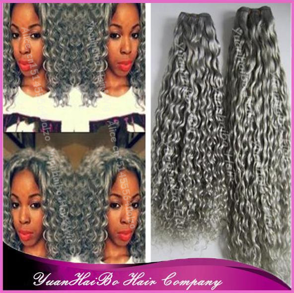 Super 7A Quality! #gray peruvian kinky curly virgin real ...