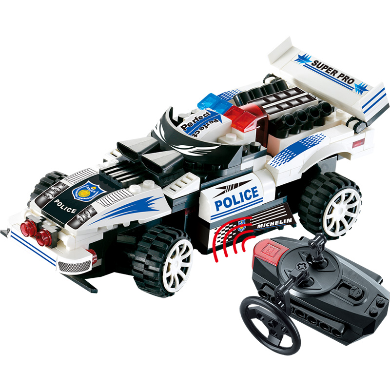 Building Blocks DIY toy Simulation Car Remote Control Technic Series Policeme Compatible with LegoINGlys Educational Toy for Kid simulation mini golf course display toy set with golf club ball flag