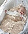 Acessórios Carrinho De Criança Bebê carrinhos quentes Do inverno Do Bebê swaddle envoltório infantil saco de dormir manta de Crochê slaapzak