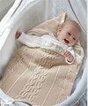 Winter Baby Stroller Accessories Toddler Baby warm strollers bag swaddle wrap infant sleeping bag Crochet blanket slaapzak
