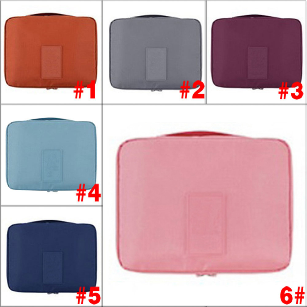 Fashion Large Capacity Color Travel Cosmetic Makeup Toiletry Purse Organizer Hanging Wash Bag Holder