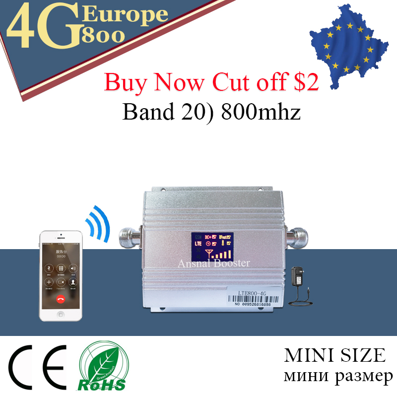 4g Signal Booster LTE 800mhz Signal Amplificateur Gsm 4g Antenna Repeater Band 20 Fast 4G Network 800mhz Mobile Signal Booster