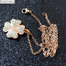 heart sharp stainless steel pendant necklaces with cz stone rose gold color