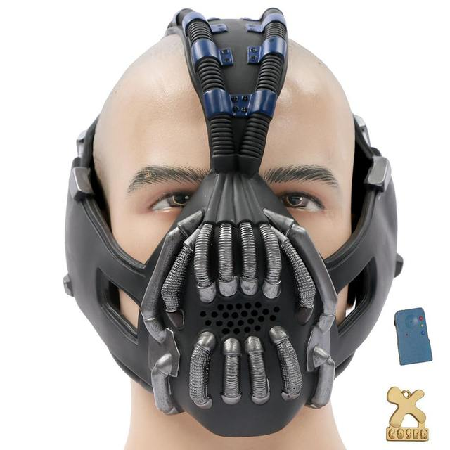 Coslive Batman Mask Bane Half Face Mask Change Voice The Dark Knight Rises Cosplay Costume Accessories Prop