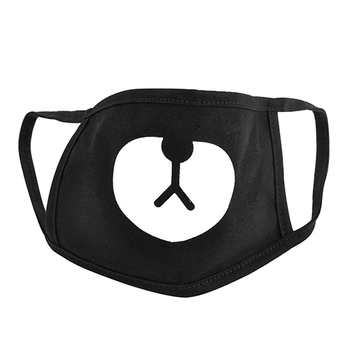 Black Bear Cotton Face Mask