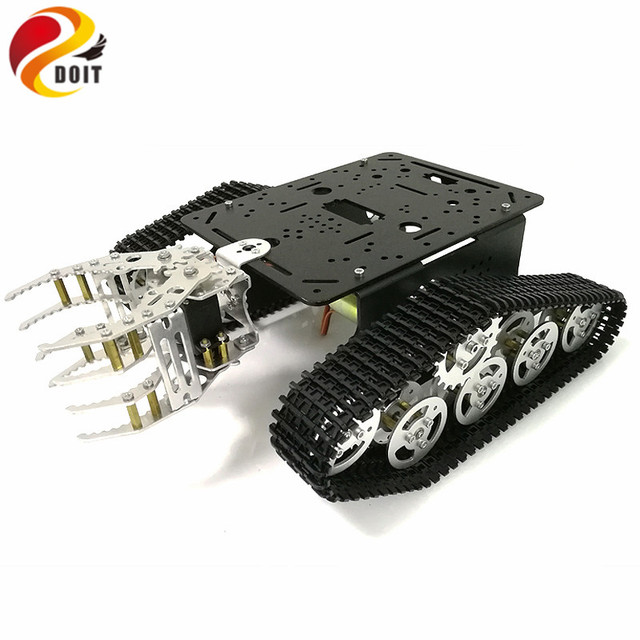 Châssis de réservoir avec griffe mécanique, châssis sur chenilles avec pince, véhicules sur chenilles, Robot citerne, réservoir RC pour projet de Robot à monter soi-même