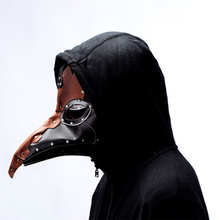 Steampunk Plague Bird Mask Doctor Long Nose Cosplay Fancy rivet Gothic Retro Rock Leather Halloween Free shipping