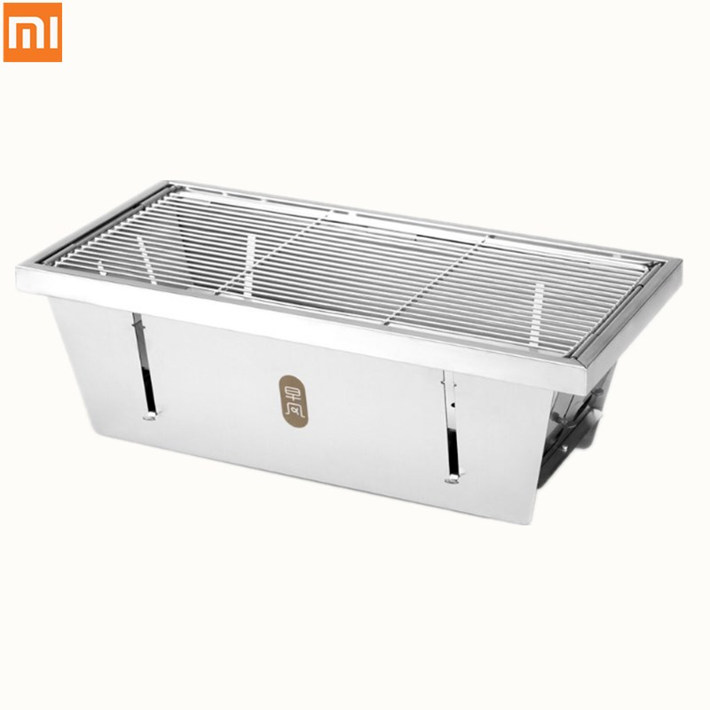 Xiaomi Mijia Zaofeng BBQ Grill Stainless Steel Folding Barbecue Stove Charcoal Barbecue Rack BBQ Tools For Camping Out Door BBQ