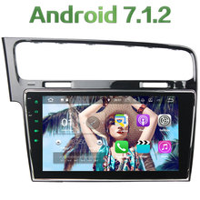 Quad Core 2GB RAM 16GB ROM Android 7.1.2 one Din Car Radio DAB GPS Navigation DVD player for Volkswagen Golf7 2013-2015