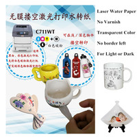 Laser Water Slide Decal Transfer Printing Paper No Varnish Clear Color No Edge left Waterslide Decal Paper For Light&Dark Plates