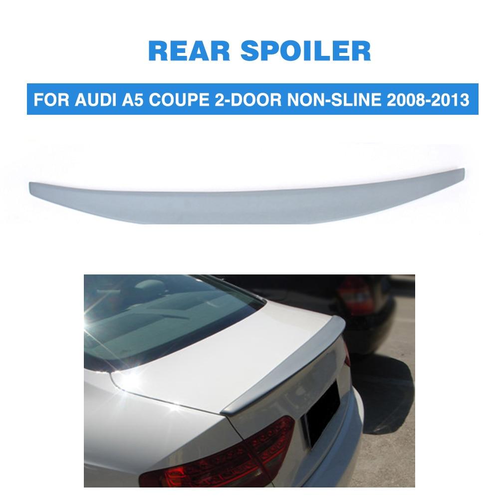 Carbon Fiber Trunk Spoiler Lip For 2008-2011 Audi A5 2dr Convertible Type A