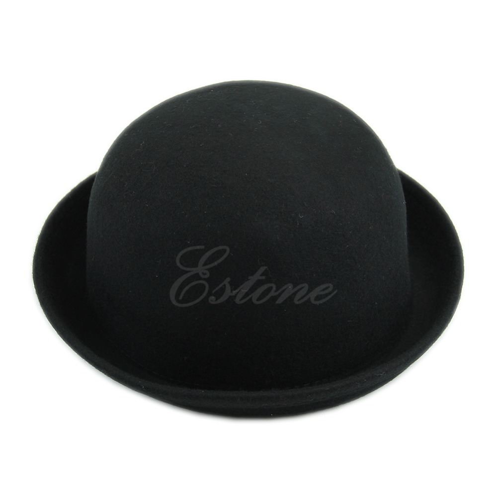 Vintage Vogue Ladies Women Men Unisex Vintage Wool Bowler Derby Hat Cap