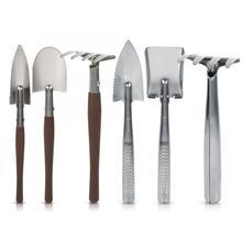 Садовая лопата 3x лопата, грабли, пластиковая/ручка из нержавеющей стали, мини садовый инструмент для растений, Детские игрушечные садовые инструменты, цветок бонсай