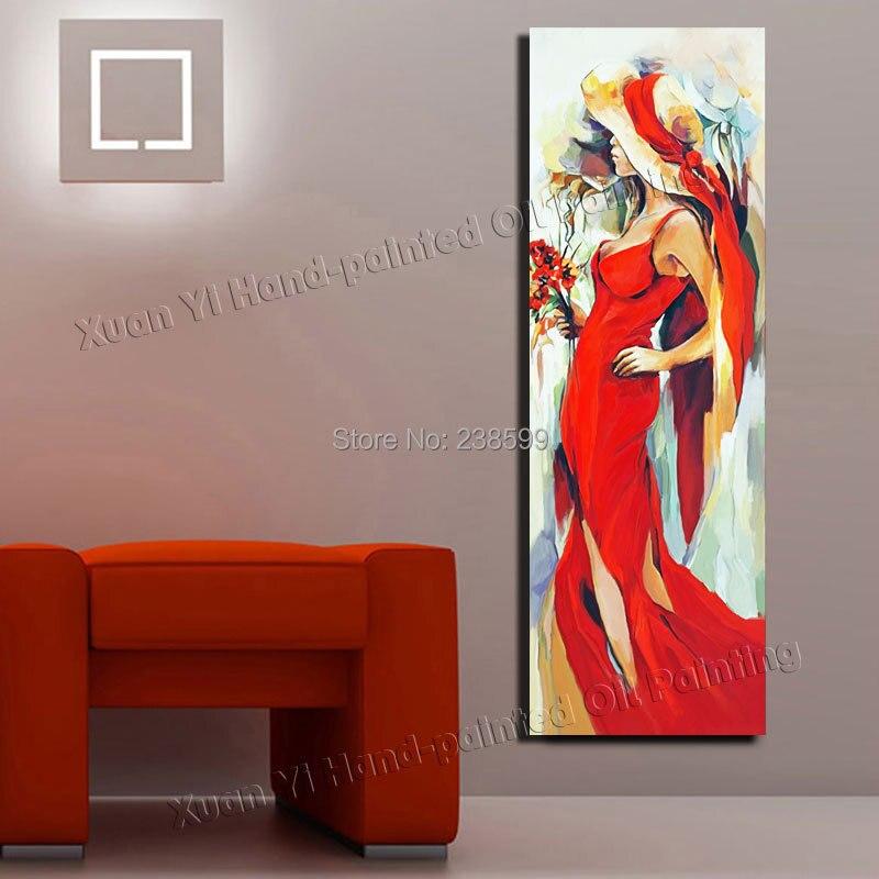 Fait à la main fille Sexy peinture à l'huile grande toile peintures moderne corps moderne Art mur décor à la maison toile peinture à l'huile