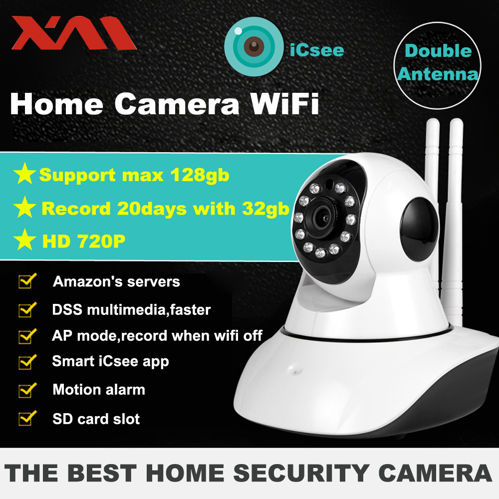 XM Home Security IP Camera Wireless WiFi Camera Surveillance 720P Night Vision CCTV Baby Monitor ihomecam home security camera ip 720p wireless mini surveillance camera wifi 720p night vision cctv camera baby monitor