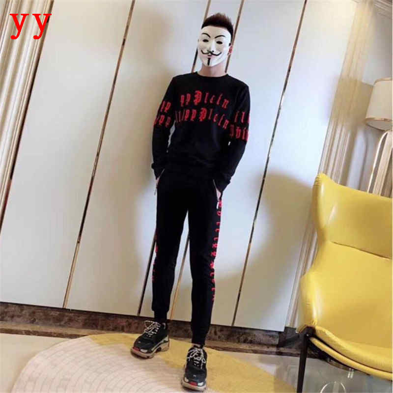F.N.JACK Fashion Men's Casual Tracksuit Set Comfortable Sportswear Fitness Tracksuit Men Hoodies Pants For Male 2 Pieces