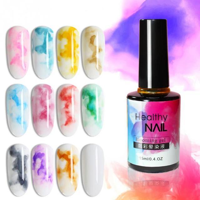 Rápido seca uñas tinta mancha líquida profesional Flor de DIY de La Mancha de tinta arte de uñas esmalte de uñas 15 ml