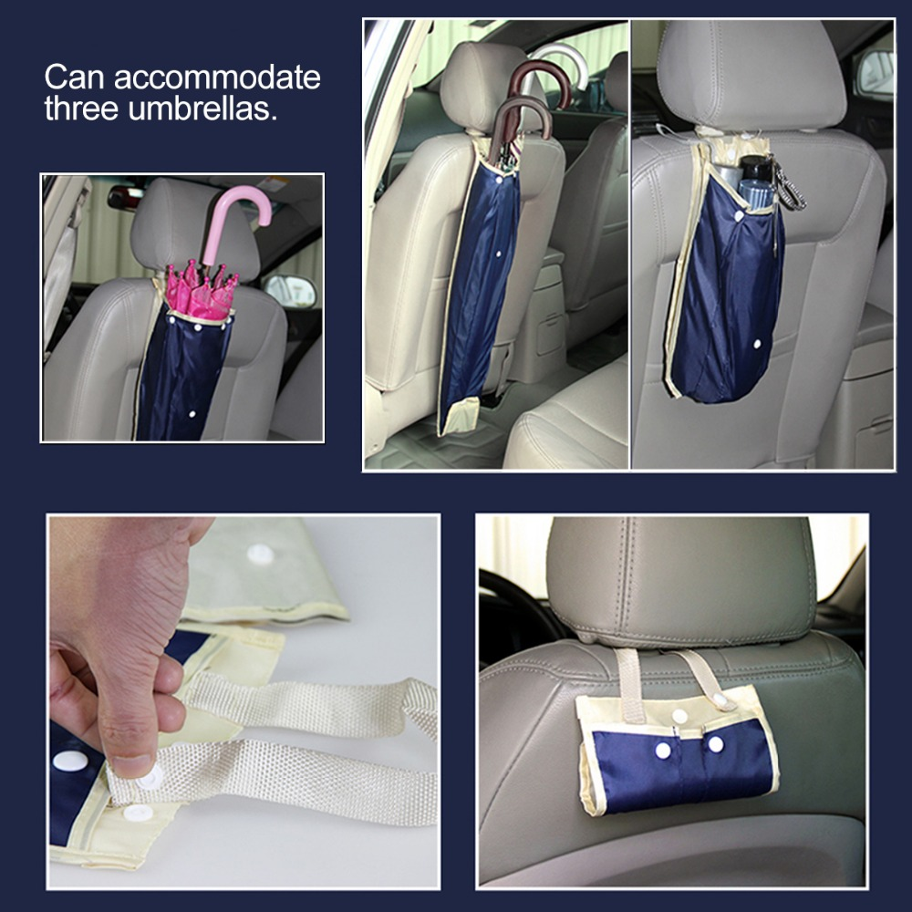 Automobiles & Motorcycles 1pcs Universal Foldable Car Auto Seat Back Cover Waterproof Umbrella Storage Organizer Cover Case Long Bag Pouch Car Accessories