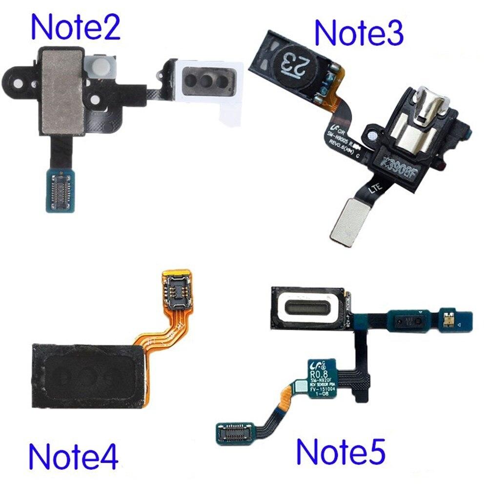 For Samsung Galaxy Note 2 3 4 5 Earpiece Speaker Earphone Ear Piece Headphone Jack Audio Proximity Sensor Flex Cable Parts