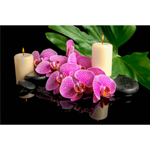 3D DIY diamond Painting orchid flower Cross Stitch Decorative diamond embroidery Rhinestone needlework home decor picture A6679R