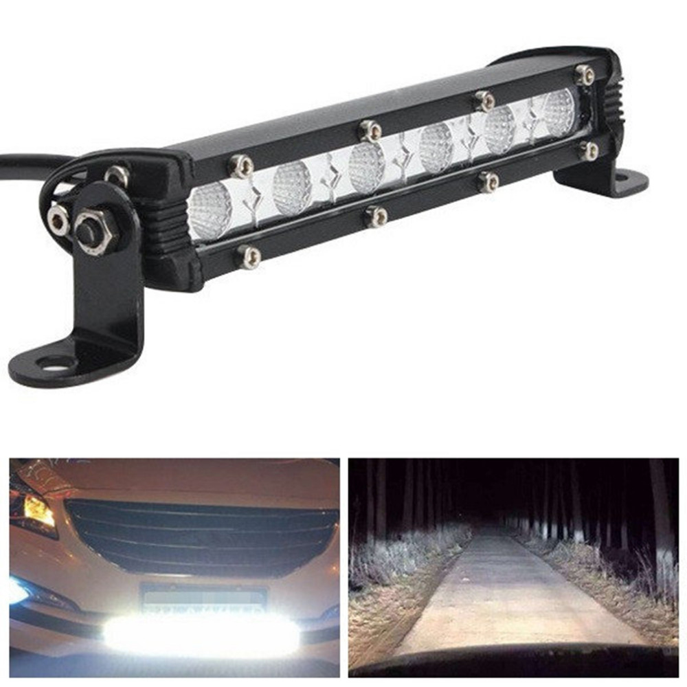 "6"" Inch 18W LED Car Work Light Bar Spotlight Flood Lamp"