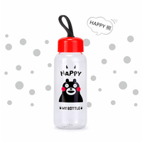 400ml Lightweight Portable Plastic Hand Tea Juice Lemon Kettle Cute Cool Bear Clear Water Bottles Space