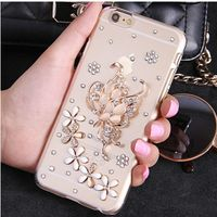 XINGDUO Butterfly For Mobile Phone Sparkly Crystals Rhinestones Bling Floral Gem Cover For iphone 7 6 5 4 6S 6SPlus 7Plus