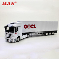 1/50 White OOCL Container Truck Super Transport Car Vehicles Lorry Simulation Transporter Model Toy for Children Collection Gift