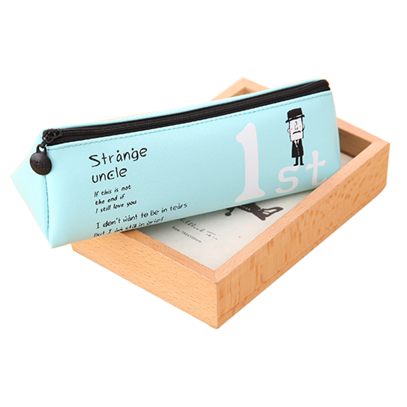 Fromthenon Cute Uncle Pencilcase Pu Leather Pencil Case For School Boys And Girls Pencil Box Kawaii Stationery School Supplies cute kawaii pencil case school pencil bag korean stationery pu leather pen bags box for boys girls