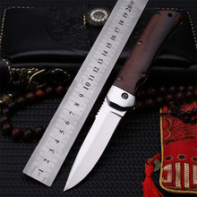 2018 New Hot Sale High Huality Outdoor Tactical Folding Knife Self-defense Survival Camping Wood Handle Fruit Hunting Knives 015 new hot k315b beast straight knife tactical knives survival knives outdoor hunting knives wood handle tools