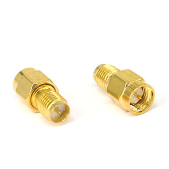 100 Pieces Goldplated SMA male to RP SMA female RF Connector Adapter