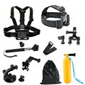 Gopro Accessories Set Kit Head Chest Mount Floating Monopod For GoPro Hero1 2 3 4 For Sports Camera
