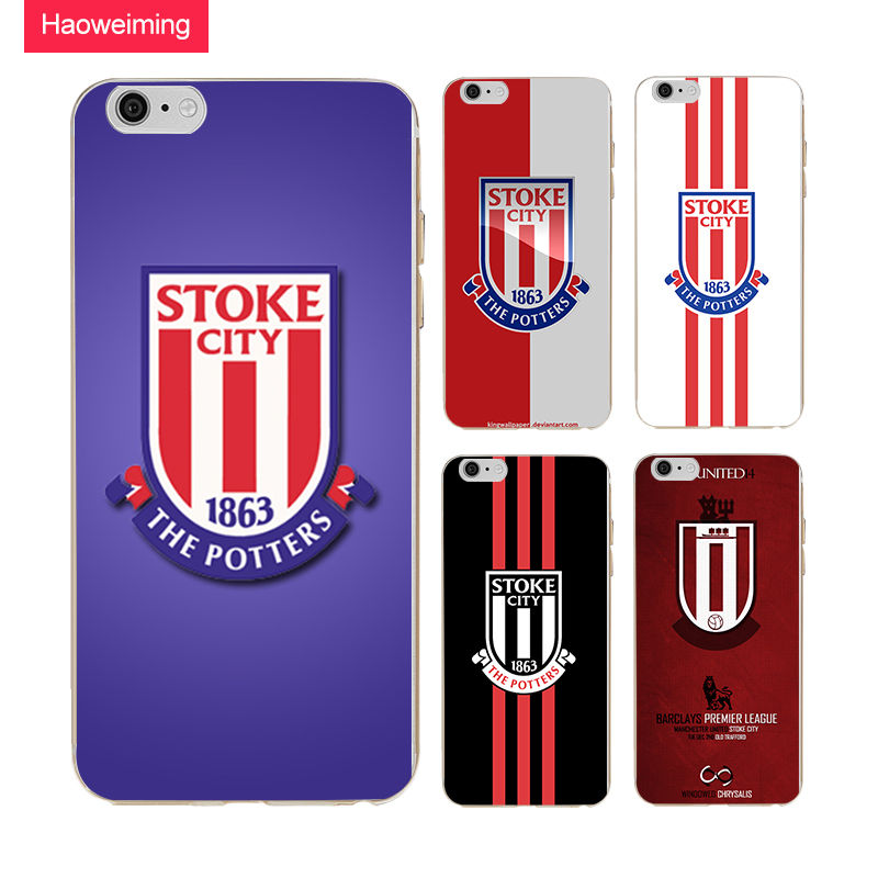 Haoweiming FC Stoke City Logo Soft TPU Silicone Case Cover For Apple iphone 4 4s 5 5s SE 6 6s 7 8 Plus X H939