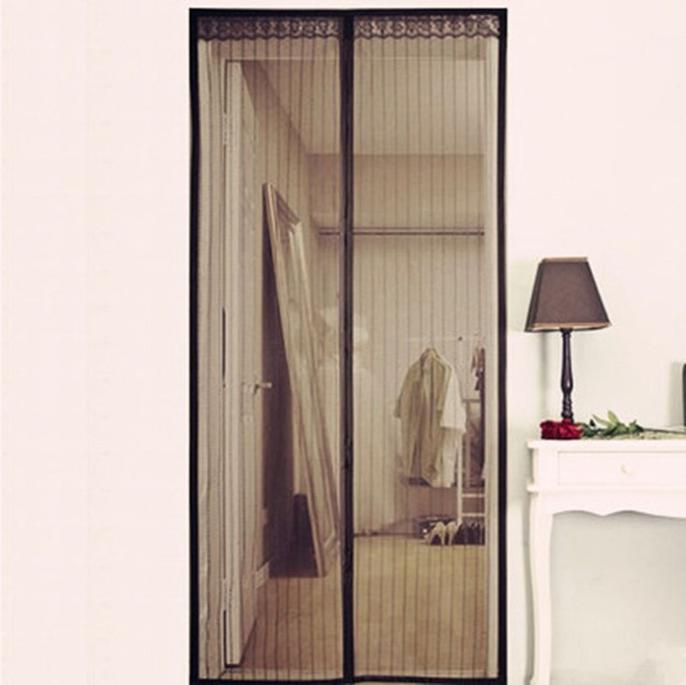 Black Door Window Screens Mesh Screen Door Mosquito Net Door For Living Room Fly Insect Stopping & Fly Door Net \u0026 New Mosquito Mesh Insect Bug Fly Magnetic Netting ... Pezcame.Com