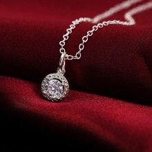 Fashion Cross CZ Crystal Zircon Stone Pendant Necklace Jewelry