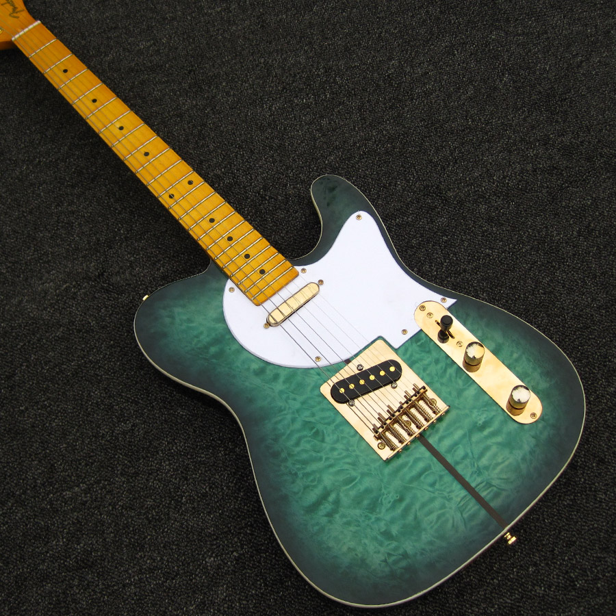 2016 new factory Merle Haggard Signature Tuff Dog Sea Foam Green Color chinese made Guitar Free